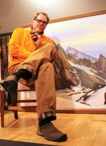 Joe Arnold in his studio