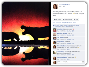 Facebook Hippo Painting