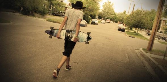 Mason -  The Cowboy Longboarder