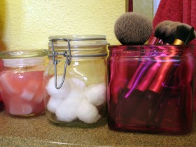 Simple yet significant: the jars I repurposed for my vanity top are a part of my everyday life.