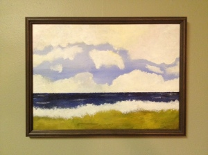 One of my own paintings that was framed at Gallery West and the Frame Plant