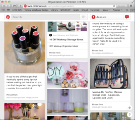 My organization board on Pinterest.com